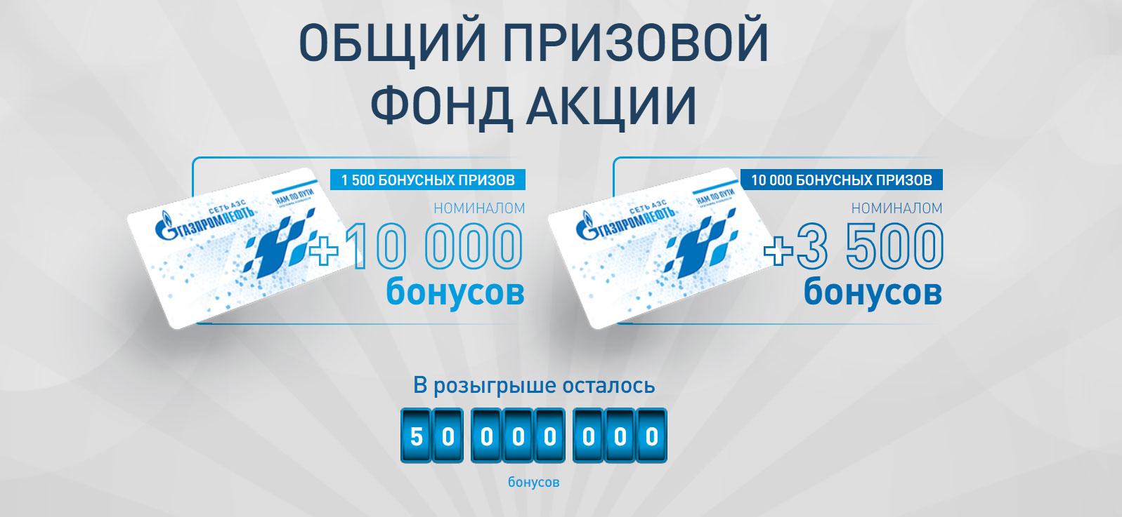 Акция на АЗС Газпромнефть